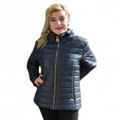 Jacheta bleumarin, masura mare, cu fermoar si buzunare ascunse