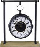 Cumpara ieftin Ceas negru cu alb din metal pe suport 27x10x31cm