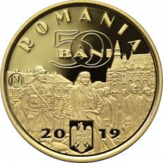 Lot x 10 Bucati Moneda 50 Bani 2019 PROOF Desăvârșirea Marii Uniri Ferdinand