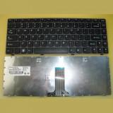 Cumpara ieftin Tastatura laptop noua LENOVO Z380 Gray Frame Black US