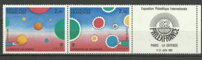 Franta 1982 - expo PhilexFrance, triptic neuzat foto
