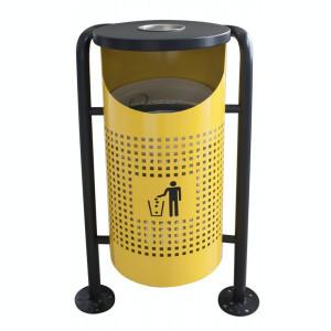 Coș de gunoi în exterior, galben 36x36x91cm. MN0185111 Raki