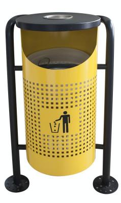 Coș de gunoi în exterior, galben 36x36x91cm. MN0185111 Raki foto