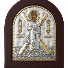 Icoana Argintata Sfantul Andrei Apostolul Romanilor 13x11 cm Cod Produs 1416