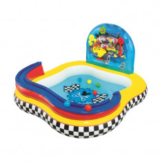 Piscina Gonflabila Bestway – Mickey Mouse, 6 Bile Colorate, 157 X 157 X 94 Cm