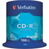 """CD-R VERBATIM 700MB 80min viteza 52x 100 buc spindle """"43411"""""""