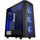 Carcasa Versa J24 Tempered Glass RGB neagra, SPCC Steel ATX Mid Tower, fara sursa