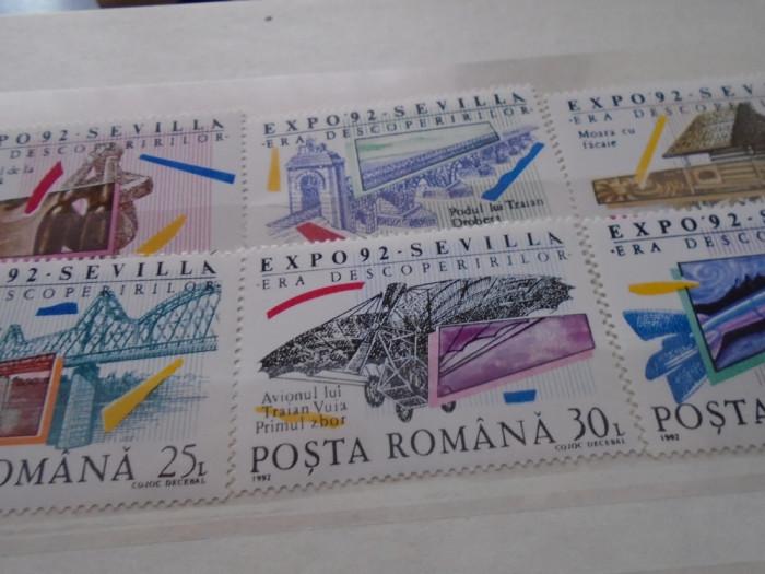 1992  LP 1293 EXPOZITIA MONDIALA ''ERA DESCOPERIRILOR SEVILLA