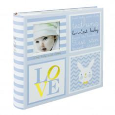 Album foto Baby Loveliest personalizabil 10x15, file albe cartonate, spatiu notite