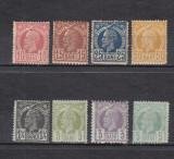 ROMANIA 1885/89   LP 43   CAROL  I  VULTURI  HARTIE  COLORATA  SERIE   MNH, Nestampilat