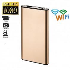 Baterie externa H10 cu camera de supraveghere incorporata, 4K, Wi-Fi