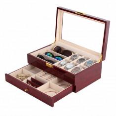 Cutie pentru cesuri, ochelari, bijuterii lemn lucios foto