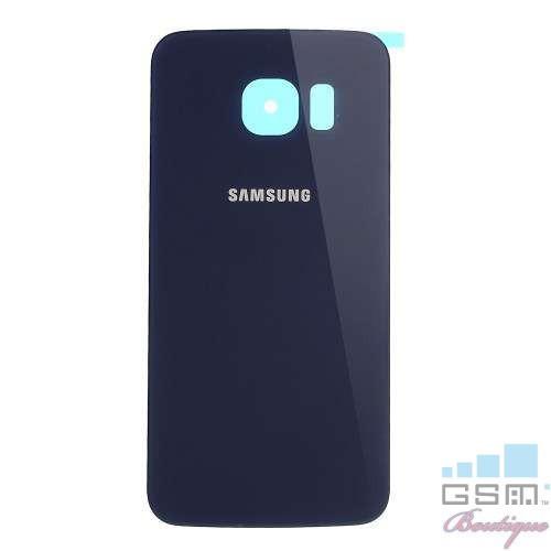 Capac Baterie Spate Samsung Galaxy S6 Edge G925 Cu Adeziv Sticker Albastru