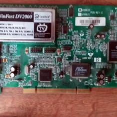 TV Tuner Leadtek WinFast DV2000 cu FireWire + cabluri captura cu SCART