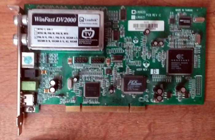 TV Tuner Leadtek WinFast DV2000 cu FireWire + cabluri captura VHS (SCART)