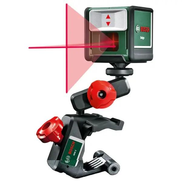 Nivela laser Bosch Quigo III cu linii in cruce, 10 m domeniu lucru, accesorii incluse