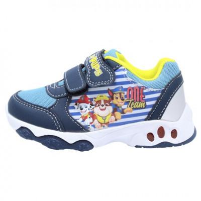 Pantofi sport cu luminite licenta Paw Patrol (Patrula Catelusilor) model 6145 multicolor 24 30 EU foto