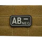 "Patch Bloodtype ""AB NEG"" cauciuc SWAT JTG, JG"