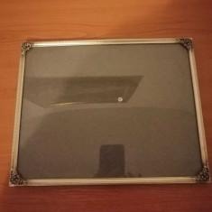 Rama metal argintiu pentru tablou/foto sticla protectie 24x30 cititi descrierea