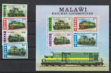 Transporturi ,locomotive electrice,Malawi., Nestampilat