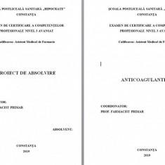 LUCRARE DE LICENTA AMF-  ANTICOAGULANTELE
