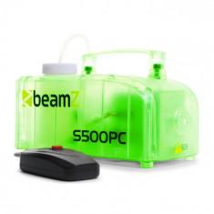 Beamz S500PC, aparat de fum, transparent, RG,B LED-uri, 500 W, inclusiv fluid de ceață
