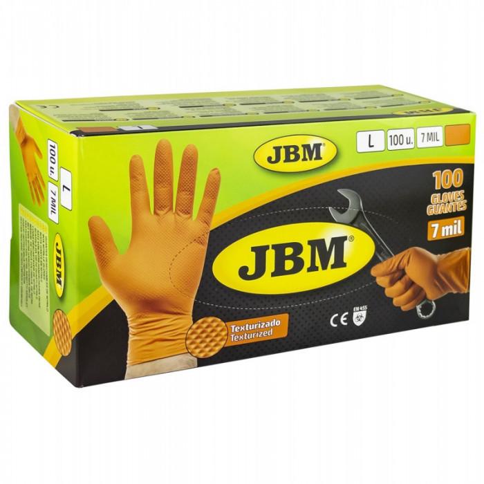 Manusi JBM Portocalii Nitril 7Mil 53552 90 Buc L