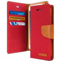 "Husa APPLE iPad Mini 2\3 (7.9"") - Canvas Diary (Rosu)"