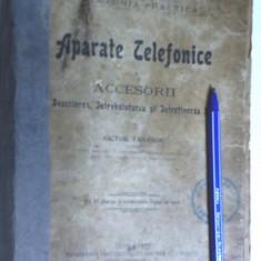carte veche f.rara telefon vechi telefoane 1911 are 118pg ilustr si 48 planse