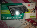 Tastatura Logitech Ultraflat conexiune USB/PS2, NOUA
