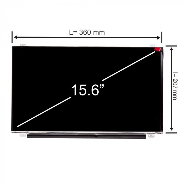 Display laptop, Toshiba, Satellite P50-C, 15.6 inch, LED, HD, 1366x768, slim, 30 pini, Second Hand