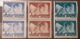 Cumpara ieftin Romania 1936 trimiteri postale fondul aviatiei , pereche serie 3v mnh