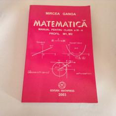 MATEMATICA MANUAL PENTRU CLASA A IX-A M1, M2 - Mircea Ganga,RF2/1