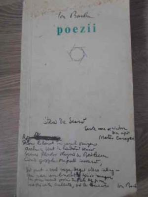 POEZII EDITIE INGRIJITA DE ROMULUS VULPESCU - ION BARBU foto