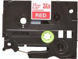 Banda continua laminata Brother TZE435 12mm 8m Alb pe Rosu