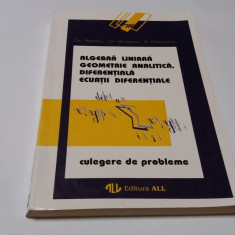 ALGEBRA LINIARA,GEOMETRIE ANALITICA,DIFERENTIALA,ECUATII DIFERENTIALE- ATANASIU