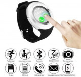 Ceas Smartwatch TarTek™ Y1 Silver, Ecran Touchscreen, Bluetooth, SIM Notificari, Pedometru