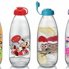 Sticla pentru lapte cu decor 1l, 015447