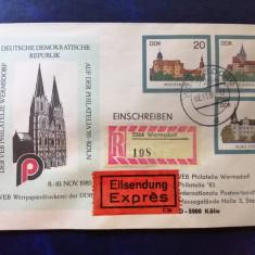 Intreg postal DDR, rar, circulat 1985