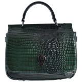 Geanta dama, din piele naturala, marca Desisan, 588-06-P-26, verde