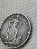 Italia 10 lire 1936, argin