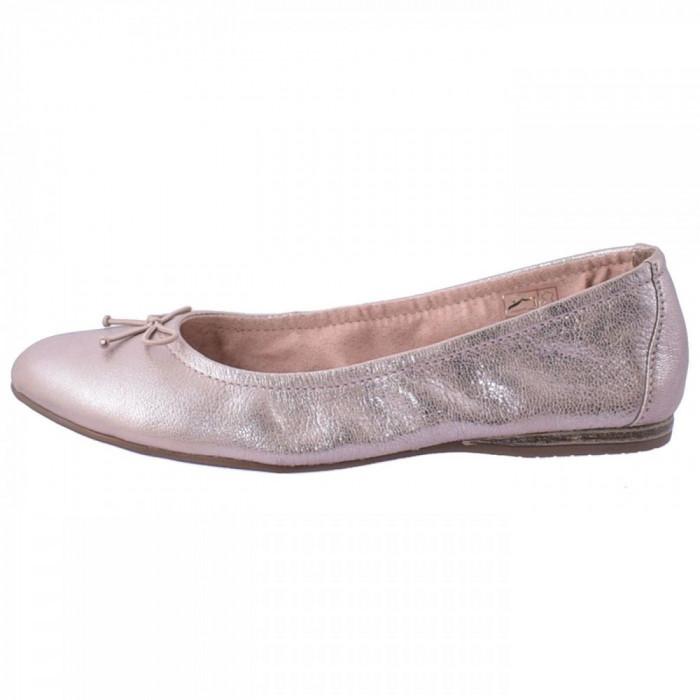 Balerini dama, din piele naturala, marca Tamaris, 22189-M8-10, roz , marime: 39