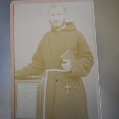 CDV - Fotografie pe carton Calugar catolic - cca. 1900