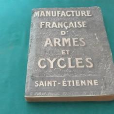 MANUFACTURE FRANCAISE D'ARME ET CYCLES*SAINT-ETIENNE/1921*CATALOG ARME, CEASURI