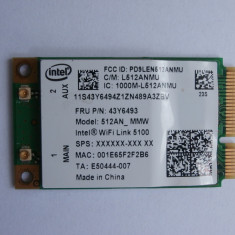 Intel 5100 WiFi WLAN Card 512an_mmw 802.11 AGN 300mbps Mini Pci-e