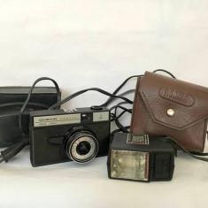 Aparat foto vintage Smena Symbol Lomo + blitz Norma FIL-16 URSS / Rusia
