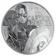 Moneda argint lingou + livrare GRATIS prin Posta Romana, Captain America 1 uncie