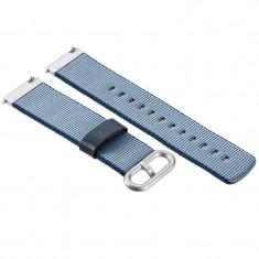 Curea material textil, compatibila Huawei Watch GT, telescoape Quick Release, 22mm, Albastru