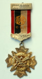 Cumpara ieftin Medalie masonica HUNTCLIFFE LODGE Argint aurit