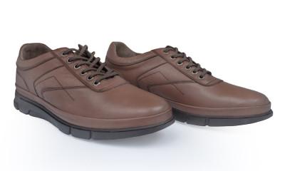 Pantofi barbati din piele naturala Caspian Cas-Tiger-01-TABA foto